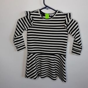 Rockets of Awesome striped ruffle skater sz 5